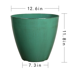 FANTASTIC :) 12.5-INCH Egg Shape Decorative Plastic Planters, Antique Shiny Finish