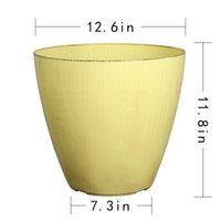 Load image into Gallery viewer, FANTASTIC :) 12.5-INCH Egg Shape Decorative Plastic Planters, Antique Shiny Finish