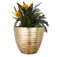 Load image into Gallery viewer, FANTASTIC :) 14-INCH Round Shape Decorative Plastic Planters,  Wrinkle Shiny Finish