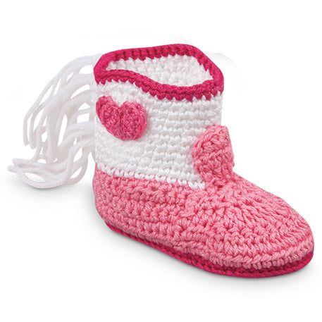 Baby Booties Pink- newborns