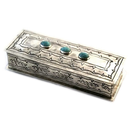 Silver Eyeglass Box