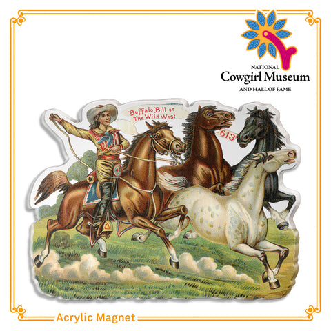 Buffalo Bill on Horseback magnet
