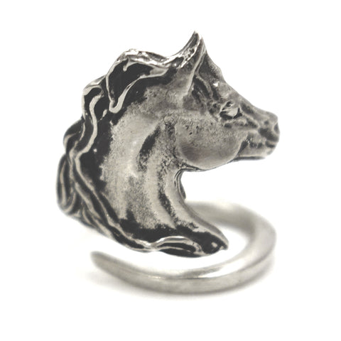 Friesian Horse Wrap Ring