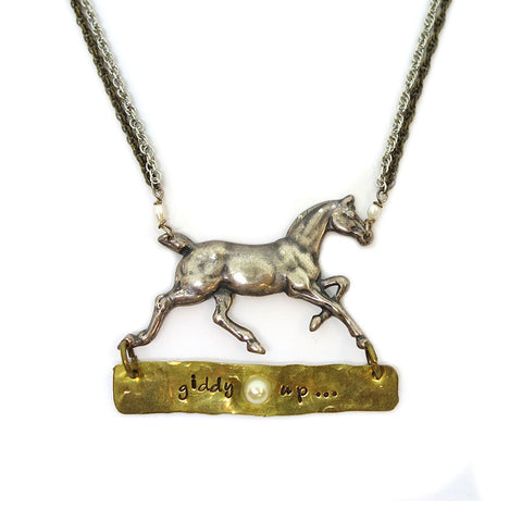 Giddy Up Horse Necklace