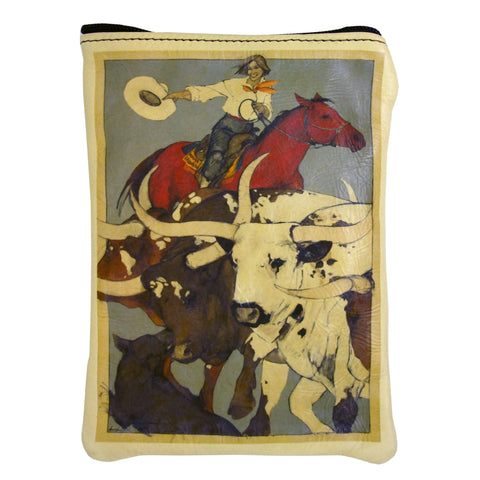 """Stampede"" leather purse"