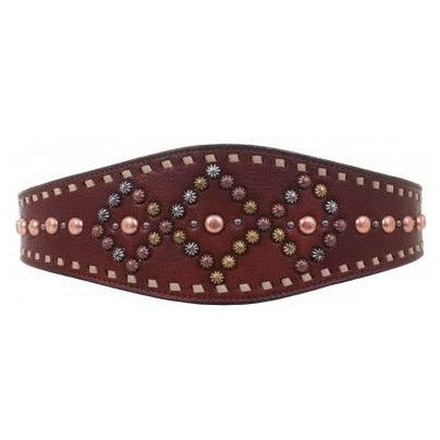 Tapered Studded Leather Belt