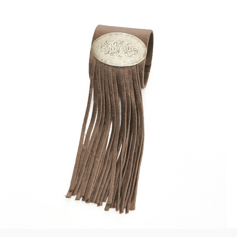 Concho Amp Fringe Cuff Bracelet The Shop At The Cowgirl