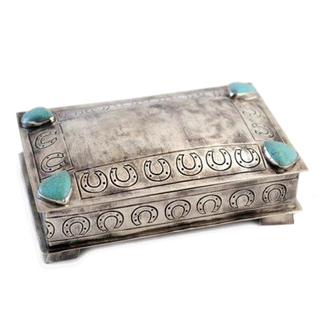 Silver Box with Horseshoes