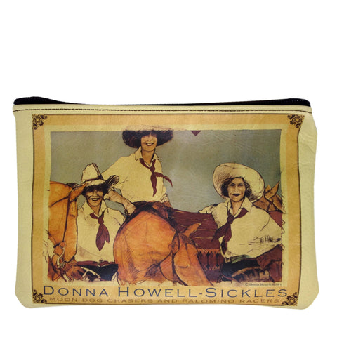 """Moon Dog Chasers and Palomino Racers"" leather purse"