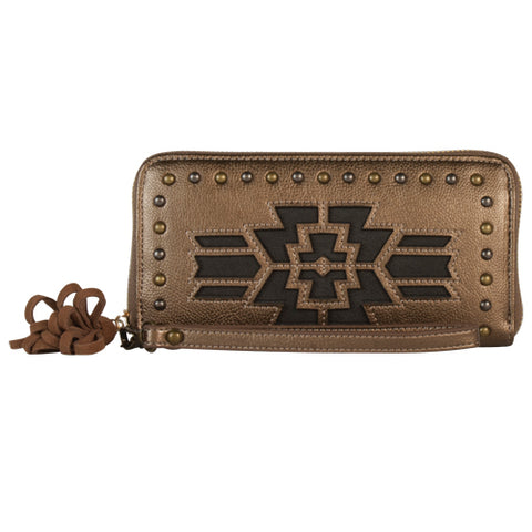 Metallic Broze Cutout Wallet