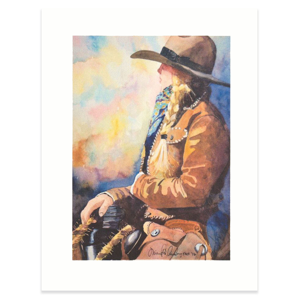 """Lonesome Cowgirl"" Print"