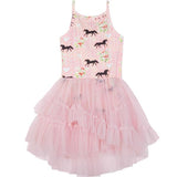 Spring Horse Bodysuit with Tutu Skirt