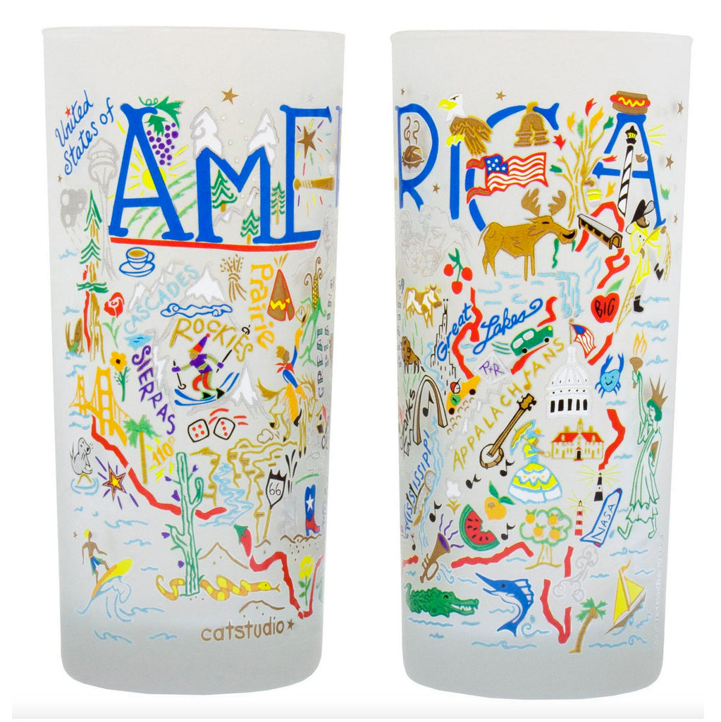 America Frosted Glass Tumbler