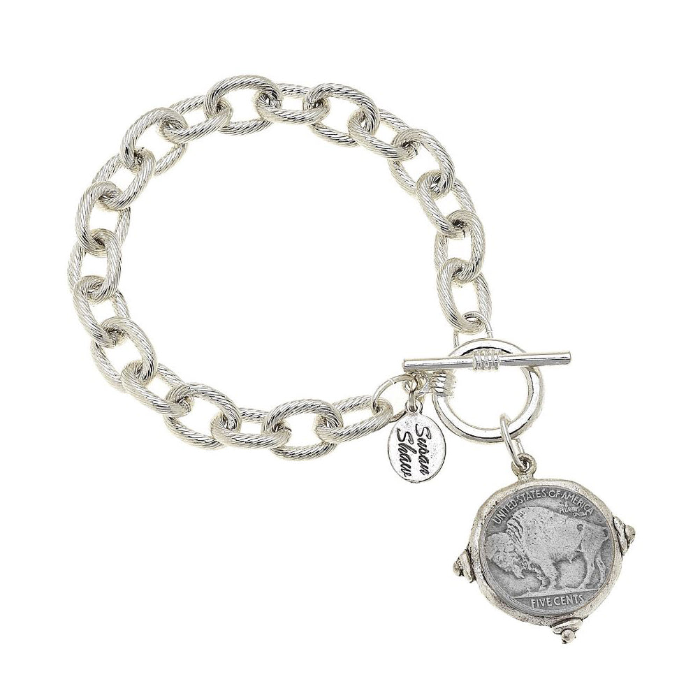 Buffalo Nickel Chain Bracelet