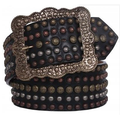 Chap Leather Studded Belt