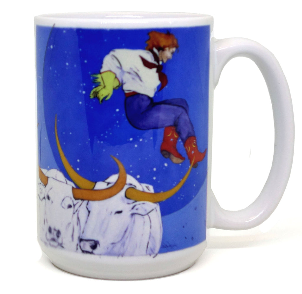 Cowgirl Jumped Over The Moon Mug