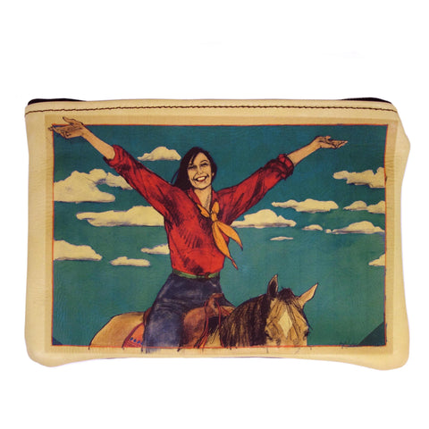 """Welcome Home"" leather purse"