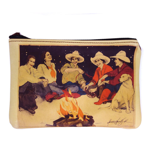 """Campfire Girls"" leather purse"