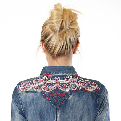 Chambray & Sequins Western Shirt