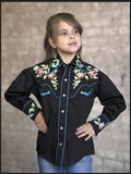 Kid's Embroidered Floral Shirt