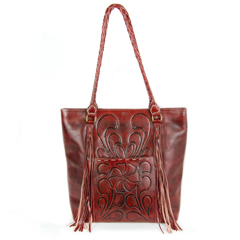 Wildflower Tote, oxblood