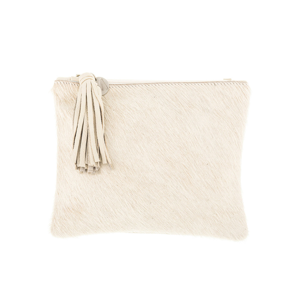 Mickey Bok Clutch, cream