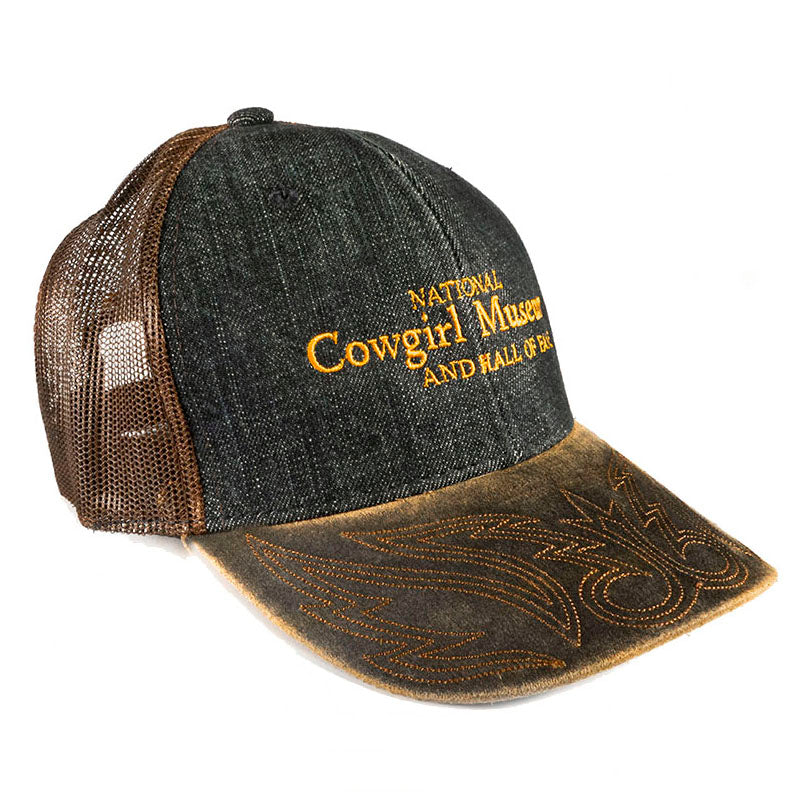 Museum Cap weathered denim