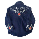 Kids Embroidered Tulip Shirt, Navy