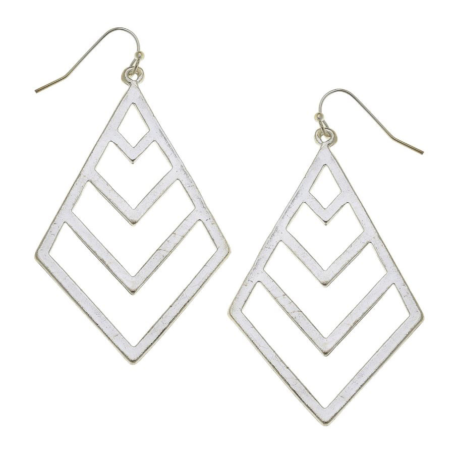 Open Chevron Earrings