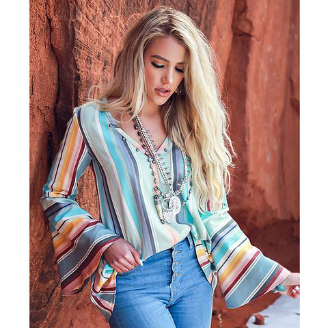Lily Bell Sleeve Serape Top