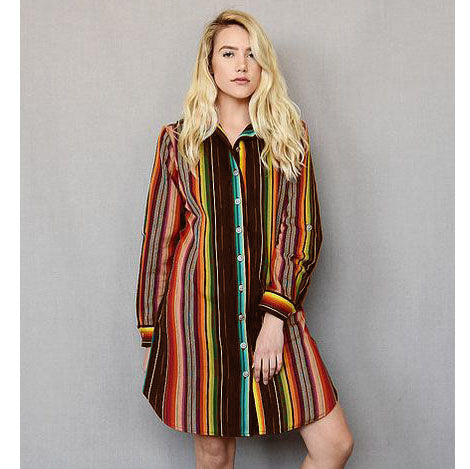 Ana Dress in Espresso Serape
