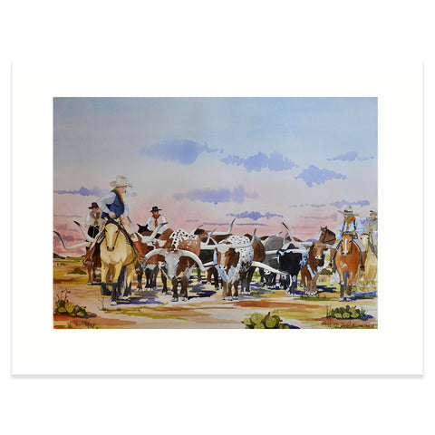 """Chisholm Trail Sunset"" Print"