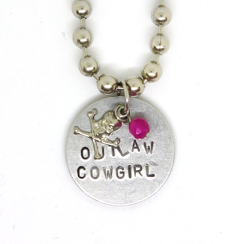 """Outlaw Cowgril"" pendant"