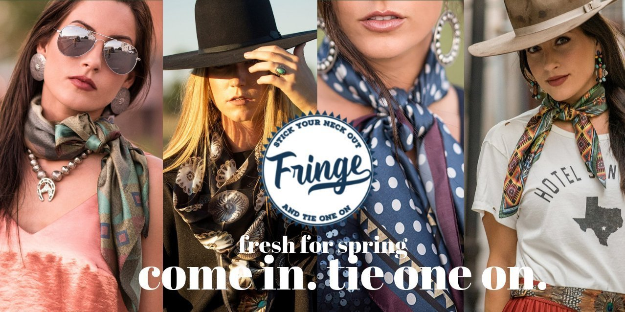 Fringe Scarves, shop local