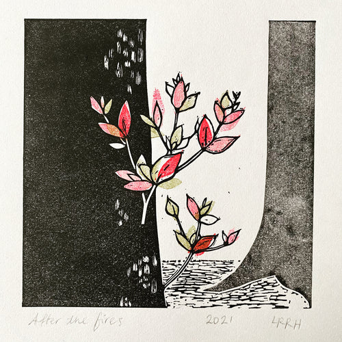 'After the Fires' Linoprint, Limited Edition Linoprint