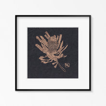 Load image into Gallery viewer, Golden Banksia - Original Linoprint