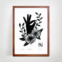 Load image into Gallery viewer, Gyan Mudra - Original A5 Linoprint