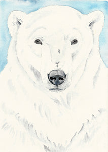 Polar Bear Art | Arctic Animal Art | Watercolour print | Bear painting | Kids wall art | Nursery wall art | Nursery decor | Art print