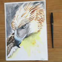 Load image into Gallery viewer, Phillippines Eagle|Spirit bird| Totem |Boys room wall art|Eagle art print|Gift for teenage boy|gift under 50|Watercolor eagle art|wildlife
