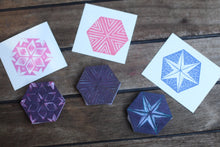 Load image into Gallery viewer, Hexagon pattern stamp set - rubber stamp set