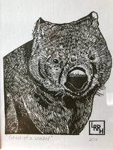 Load image into Gallery viewer, Portrait of a Wombat - Linoprint