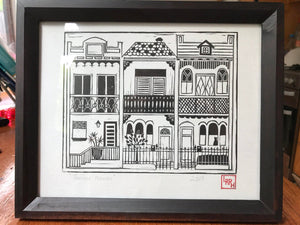Terrace Houses - Linoprint