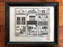 Load image into Gallery viewer, Terrace Houses - Linoprint