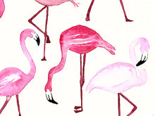 Load image into Gallery viewer, Flamingo Print Art, Gift for teen girl, Flamingo Wall Print,  gift under 50, Flamingo Wall Art, teen girl wall art,  Flamingos Art