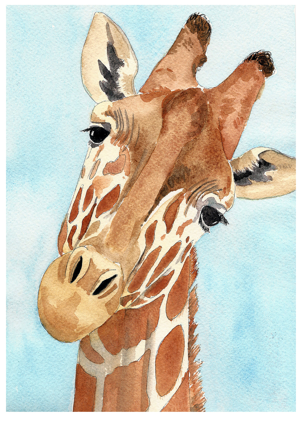 Giraffe art print, kids safari wall art, wall art above crib, nursery safari decor, safari wall art kids, safari kids decor, above crib art