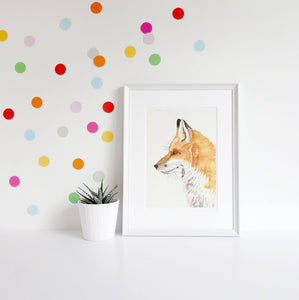 Gift for new baby, Fantastic Mr Fox kids room wall art -available in multiple sizes fox nursery decor woodland animal art print home decor