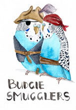 Load image into Gallery viewer, Budgie Smugglers - Greeting Card
