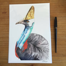 Load image into Gallery viewer, Cassowary - Watercolour Fine Art Print