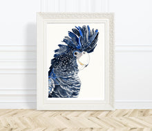 Load image into Gallery viewer, Black Cockatoo - Watercolour Fine Art Print
