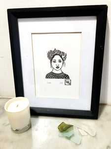 Grace - Original linoprint